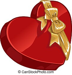 Valentine`s day gift candy with gold de3corative bow