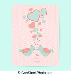 Valentines day gift card. Handdrawn design elements