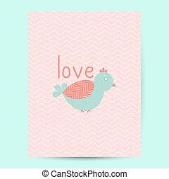 Valentines day gift card. Handdrawn design elements