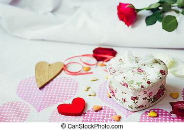 Valentine's day gift in heart box