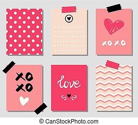 Valentines day gift vector cards