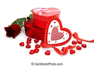 Valentines Day gifts - Heart shaped gift boxes with...