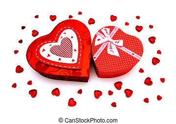 Valentines Day gifts - Two Valentines Day heart-shaped gift...