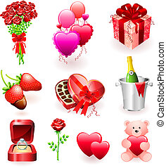 Valentine\'s Day Gifts Original Vector Illustration Simple...