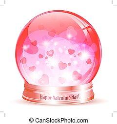 Valentine`s day globe