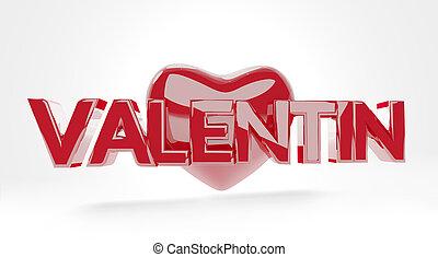 Valentine's Day glossy red 3d-illustration