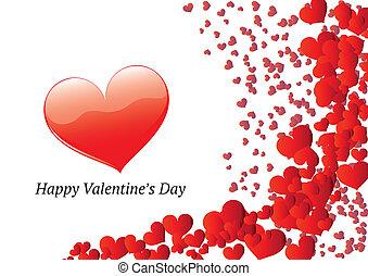 Valentine's day greeting card - Horizontal Valentine's Day...