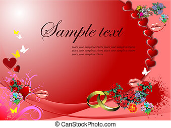 Valentine`s Day  Greeting Card. Vector illustration. Invitation card