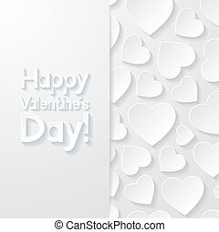 Valentines day greeting card. Vector illustration.