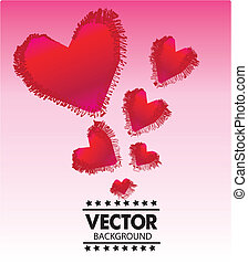Valentine's Day Greeting card, vector illustration