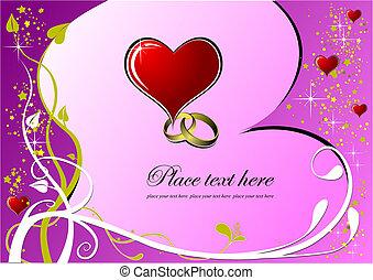 Valentine`s Day  Greeting Card. Vector illustration. Invitation