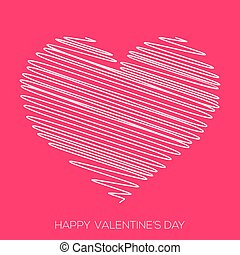 Valentine's day greeting card. Vector