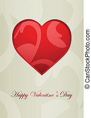 Valentine's Day greeting card with special vintage design, EPS10, vector