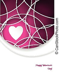 Valentine's day greeting card with pink text