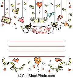 Valentine's Day greeting card with space for text