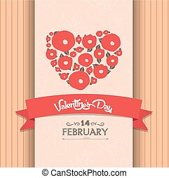 valentines day greeting poster
