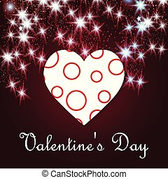 Valentine's day greetings card with dark background