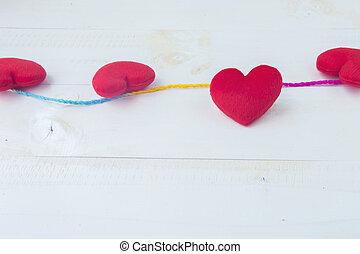 Valentines day heart background