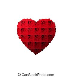 Valentines day Heart background with lot of hearts. Vector illustration isolated on white