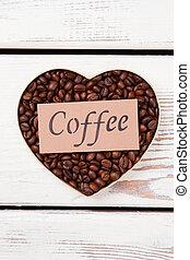 Valentine's day heart coffee grain.