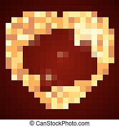 Valentines Day Heart. Gold Glitter Background.