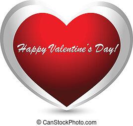 Valentines day heart logo