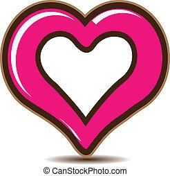 Valentines Day Heart logo vector