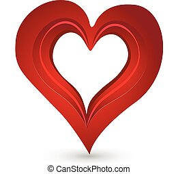 Valentines Day heart love icon logo