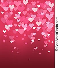 Valentines day heart shape bokeh light love card