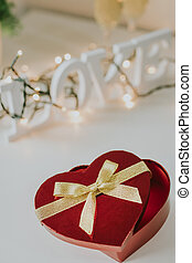 valentine's day heart shaped gift box