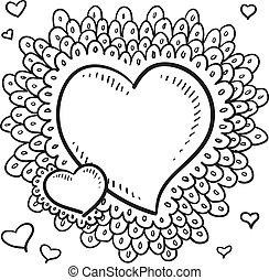 Valentine's Day heart sketch