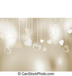 Valentine's day hearts background. EPS 8
