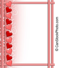 Valentines Day Hearts border - Illustration composition...