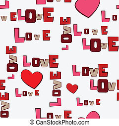 Valentine's Day Hearts Love  seamless pattern