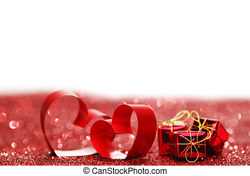 Valentines day hearts - Valentines day ribbon hearts and...