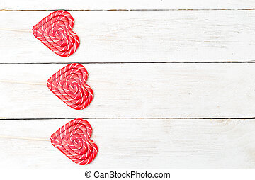 Valentine's day. holidays card with lollipop