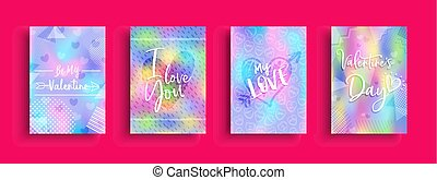 Valentines Day holographic card collection - Valentines Day...