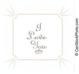 Valentine's day I love you on white