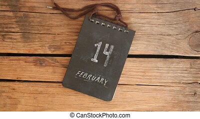 Valentines Day idea - 14 february inscription. Calendar on ...