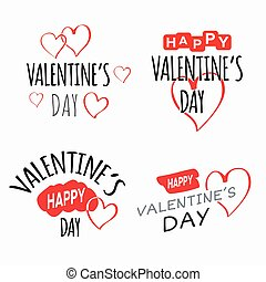 Valentine's Day Labels and Cards