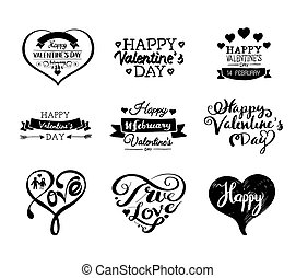 Valentine's Day Labels and Cards Set