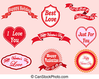valentine's day labels