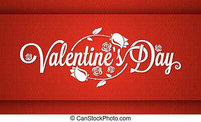 Valentines Day Lettering Banner Background.