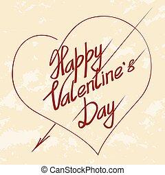 valentines day lettering grunge background