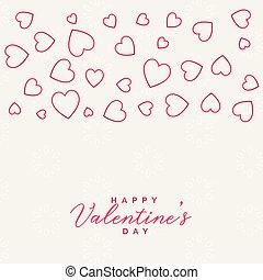 valentine's day line hearts background design