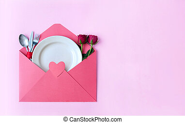 Valentines day meal concept