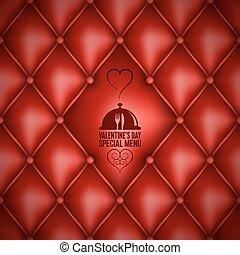 valentines day menu design background