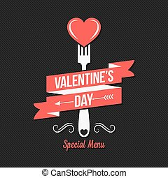 Valentines day menu design background.