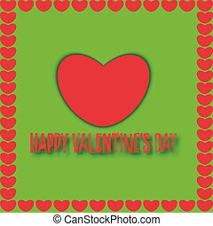Valentines day. Modern abstract background with red hearts. Vector