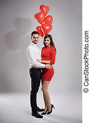 Valentines day of elegant couple
